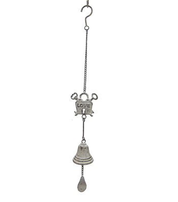 Wild Blooms Metal Wind Chime-White Love