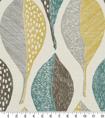 Robert Allen @ Home Upholstery Fabric 55''-Woodblock Leaf Rain
