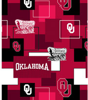 University of Oklahoma Sooners Cotton Fabric 43''-Modern Block, , hi-res