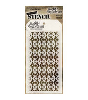 "Stampers Anonymous® Tim Holtz Layered Stencil 4.13""x8.5""-Argyle, , hi-res"