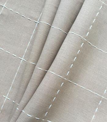 """Linen & Linen Look Fabric 57""""-Check"""
