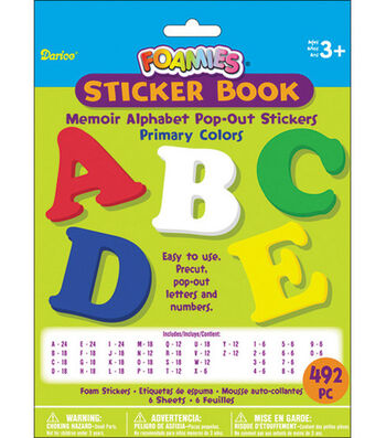 Darice Foamies Alphabet Sticker Book-492PK/Memoir