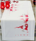 Gnomes Christmas Table Runner Stamped Embroidery Kit-16\u0022X40\u0022