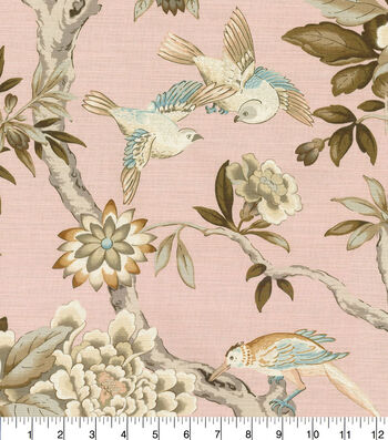 "Waverly Designer Upholstery Fabric 54""-Mudan Blush"