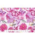 Keepsake Calico™ Cotton Fabric 43\u0027\u0027-Butterfly & Floral Watercolor