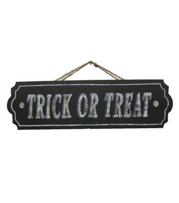 Maker's Halloween Wood Wall Sign-Trick or Treat