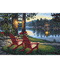 Paint By Number Kit 20\u0022X14\u0022-Adirondack Evening