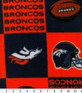 Denver Broncos Fleece Fabric 58\u0027\u0027-Block
