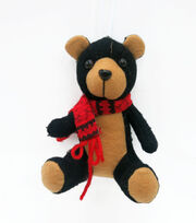 Maker's Holiday Christmas Handmade Holiday Teddy Bear Ornament-Black, , hi-res