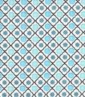 Snuggle Flannel Fabric 42\u0022-Peacock Trellis Geo