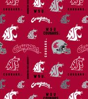 "Washington State University Cougars Cotton Fabric 43""-Logo, , hi-res"