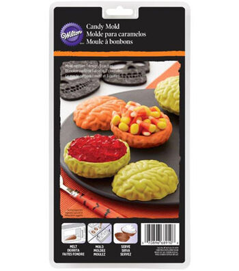 Wilton® Halloween 3-Cavity Candy Mold-Brains