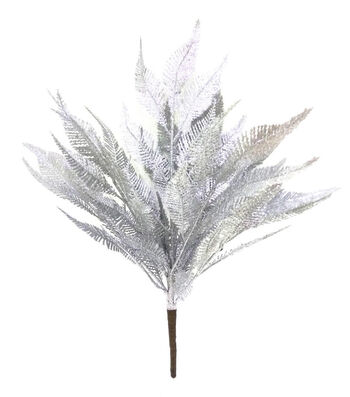 Blooming Holiday Christmas 16'' Glitter Leaves Spray-Silver