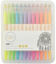 Pastl/glit-kaiser Gel Pens 24pk, , hi-res