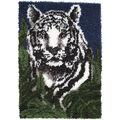 Wonderart Latch Hook Kit 24\u0022X34\u0022-White Tiger