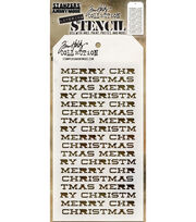 "Tim Holtz Layered Stencil 4.125""X8.5""-Merry Christmas, , hi-res"
