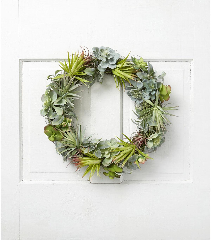 Fresh Picked Spring 19u0027u0027 Succulent Wreath