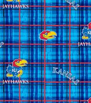 "University of Kansas Jayhawks Cotton Fabric 44""-Plaid, , hi-res"
