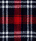Flannel Shirting Fabric 41\u0022-Red Navy White