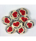 Organic Elements Wood Buttons 3/4\u0022-Handmade For You With Love
