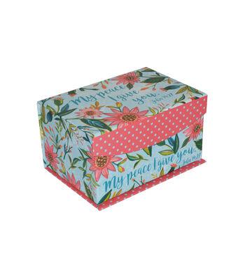 Organizing Essentials™ Small Flip Top Box-Floral Paper