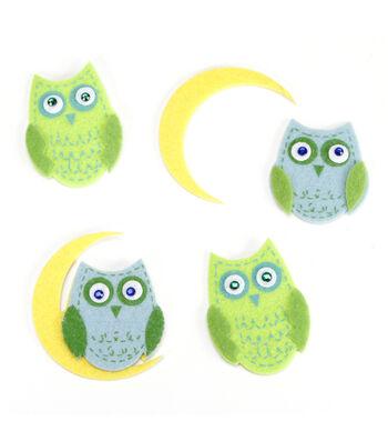 Darice Felties 10 pk Stickers-Owls