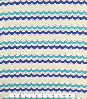 """Doodles® Cotton Fabric 57""""-Curvy Wave"""