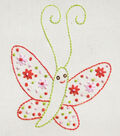 Penguin & Fish Hand Embroidery Pattern-Butterfly