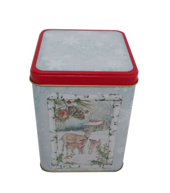 Maker's Holiday Christmas Large Square Canister-Deer