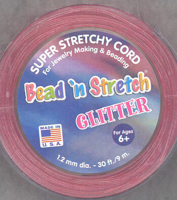 Glitter Bead 'N Stretch Super Stretchy Cord For Jewelry Making