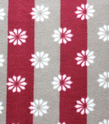 "Anti-Pill Fleece Fabric 59""-Star On Stripe"