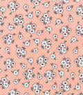 Snuggle Flannel Fabric 42\u0022-Pink Ditsy Floral