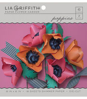 Lia Griffith Paper Flower Garden-Poppies, , hi-res