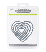 Darice Embossing Essentials Dies-Nesting Scallop Hearts 5/Pkg, , hi-res