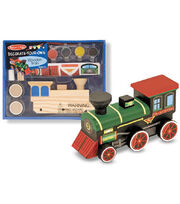 Melissa & Doug Decorate-Your-Own Wooden Train-, , hi-res