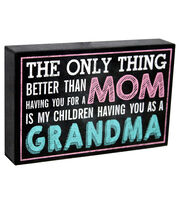 Escape To Paradise Wall Banner-Grandma Better Than Mom, , hi-res
