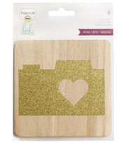 Project Life Heidi Swapp 6 Pack 4''x4'' Wood Cards, , hi-res