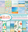 Ella & Viv Collection Kit 12\u0022X12\u0022-Watercolor Beach