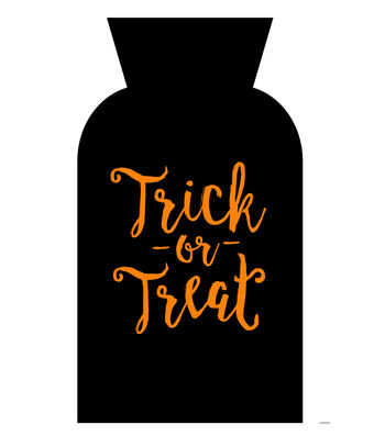 Maker's Halloween Cello Trick or Treat Bag-Orange Trick or Treat