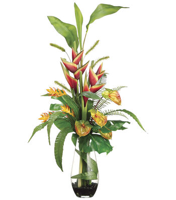 Bloom Room Luxe 44'' Heliconia, Anthurium & Foxtail-Red
