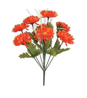 Blooming Autumn 13'' Mum & Onion Grass Bush-Orange