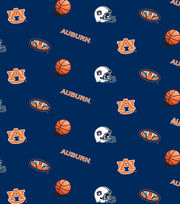 "Auburn University Tigers Cotton Fabric 44""-Blue All Over, , hi-res"