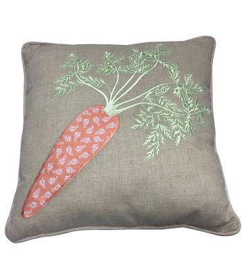 Easter 18''x18'' Pillow-Carrot
