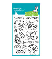 "Lawn Fawn Clear Stamps 4""X6""-Flutter By, , hi-res"