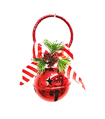 Maker's Holiday Christmas 85 mm Jingle Bell Door Knocker-Red