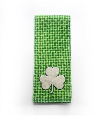 St. Patrick's Day Shamrock Print Hand Towel-Houndstooth
