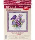 RIOLIS Counted Cross Stitch Kit 17.75\u0022X17.75\u0022-Irises In Vase