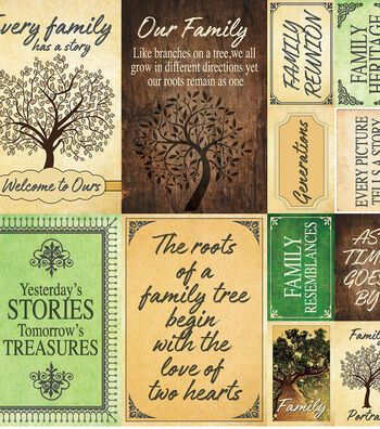 "Family Tree Poster Stickers 12""X12"""