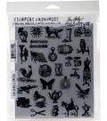Tim Holtz Cling Stamps 7\u0022X8.5\u0022-Tiny Things 2