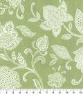 Waverly Upholstery Fabric 54\u0027\u0027-Stencil Vine on Celery